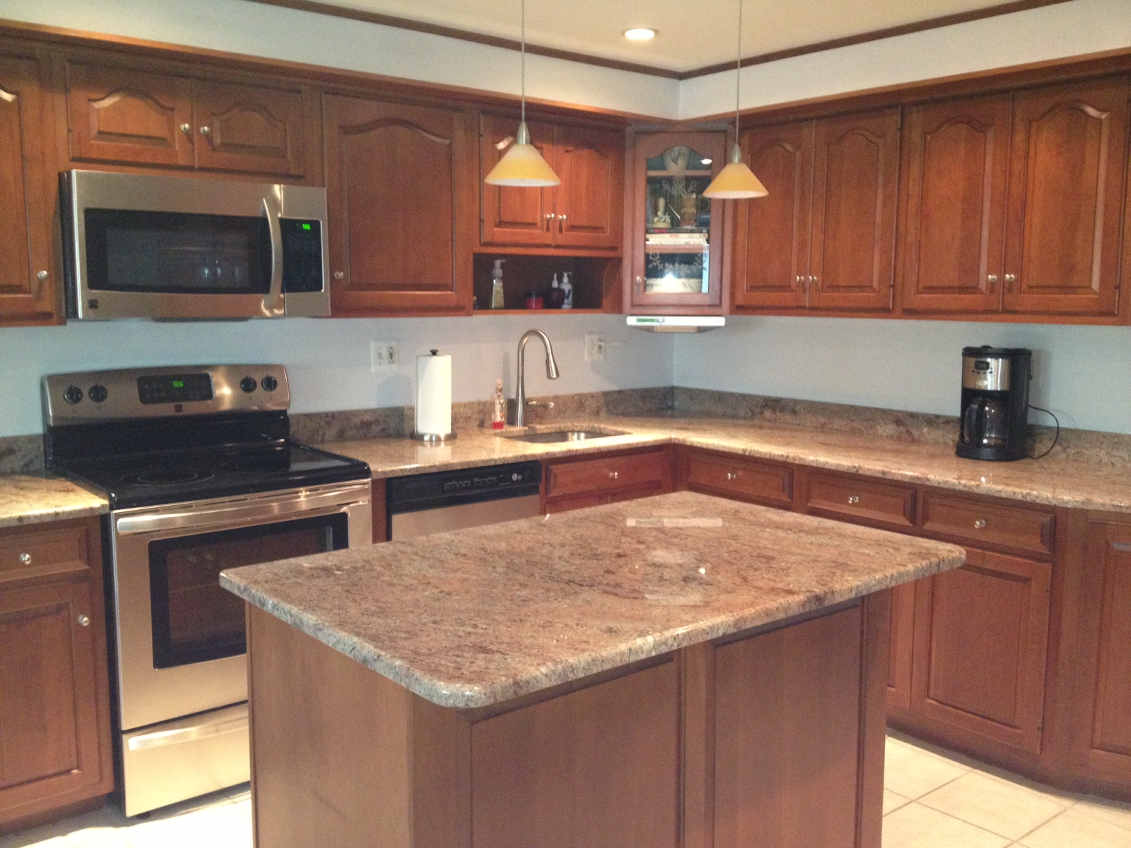 Colossus Granite Amp Marble Inc 3cm Rosewood Kitchen Before