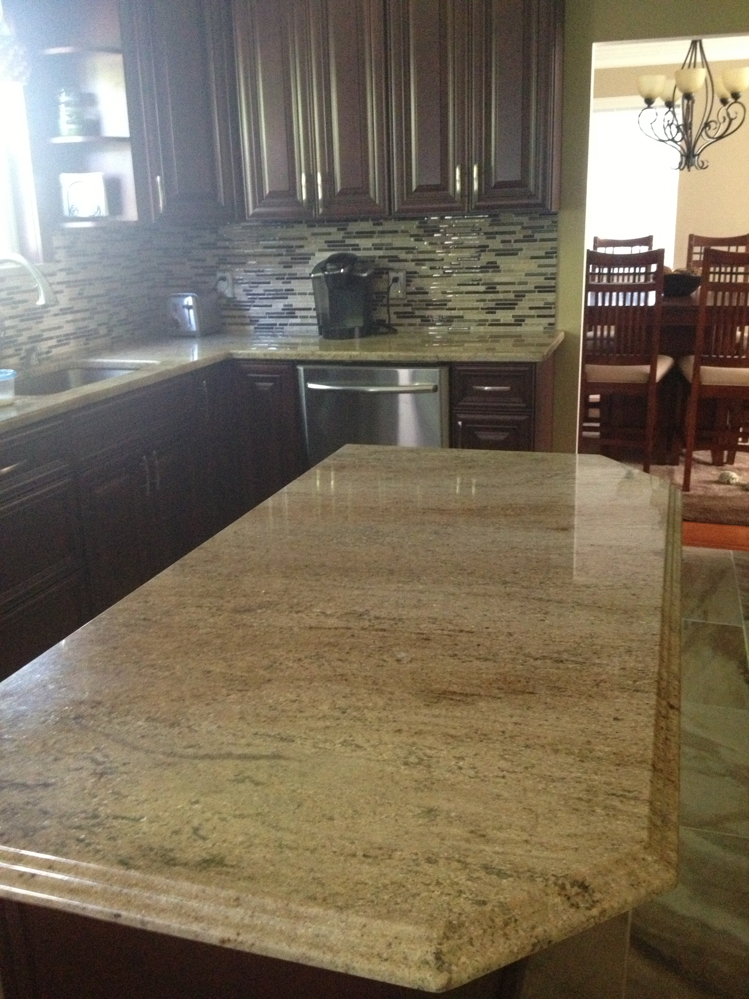 Colossus Granite Amp Marble Inc 3cm Sandstorm Kitchen With